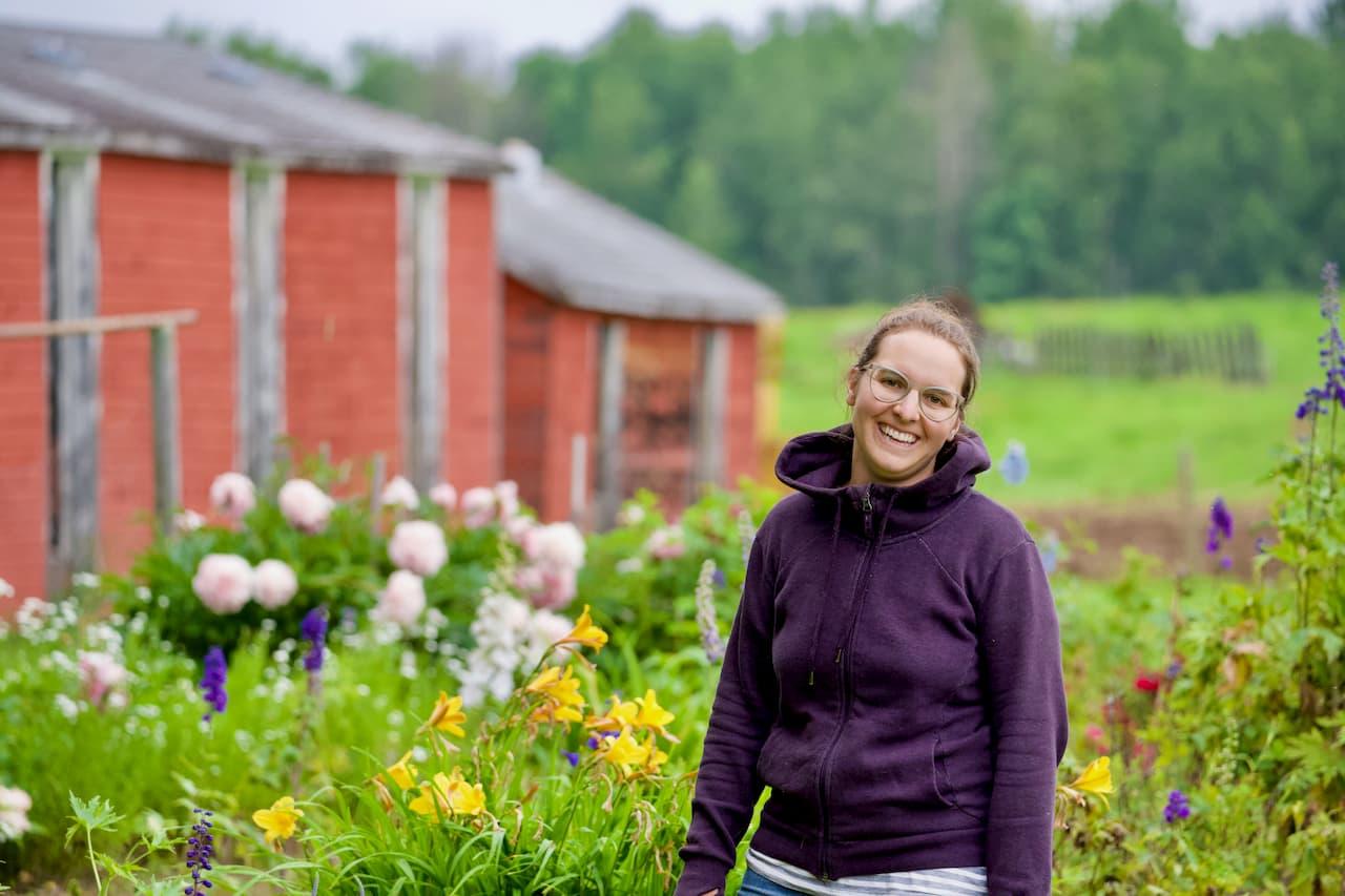 Kayla in Perennial Garden